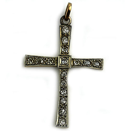 1.00 Carat Antique Diamond Cross Pendant