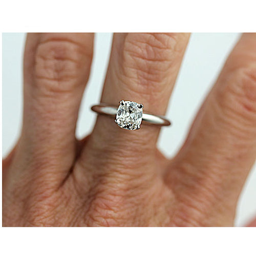 .74 ct Antique Cushion Cut Diamond Engagement Ring