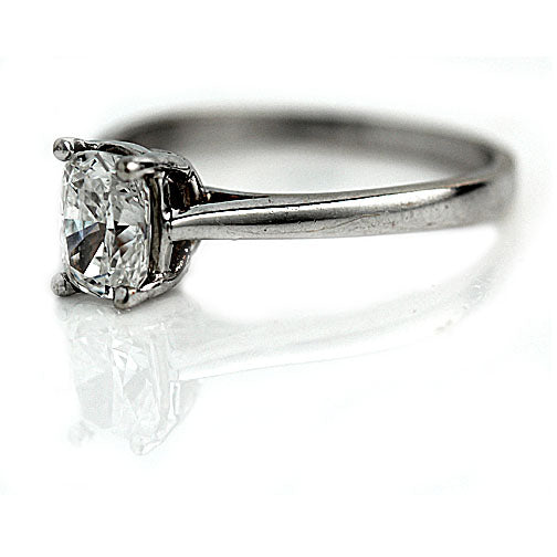 Cushion Cut Solitaire Engagement Ring