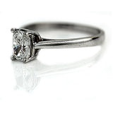 Mid Century 1.15 Carat Cushion Cut Diamond Ring