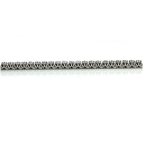 Vintage 3.20 Carat White Gold Diamond Tennis Bracelet