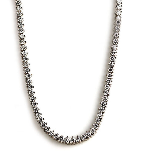 15.00 Carat Magnificent Estate Round Diamond Necklace