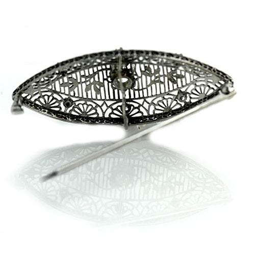 Art Deco Diamond Platinum Brooch