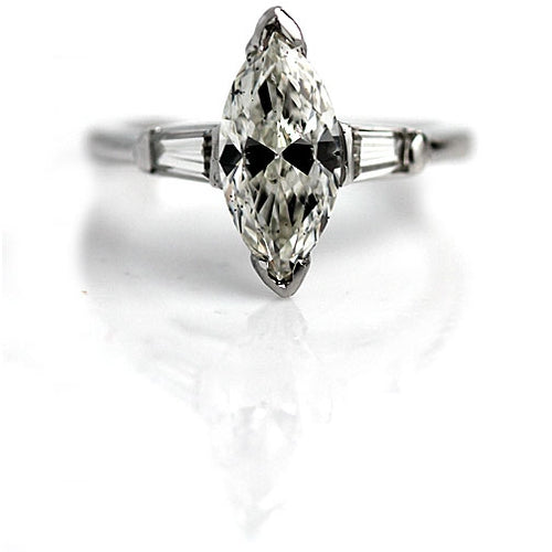 1.24 Carat Marquis GIA Platinum Engagement Ring