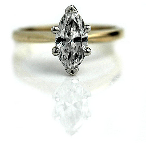 Mid Century 1.20 Carat GIA Diamond Engagement Ring E SI2