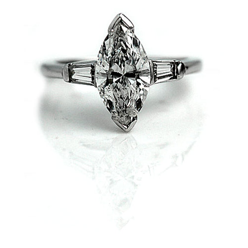 1.27 Carat Marquise Cut Diamond Engagement Ring