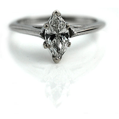 .58 carat Marquis Diamond Solitaire Engagement Ring