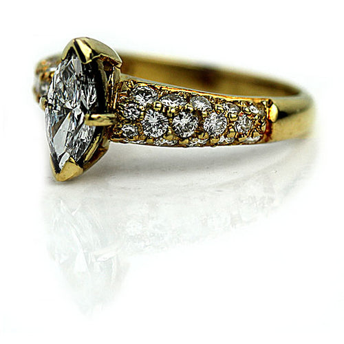 .77 Carat GIA Marquis Diamond Engagement Ring