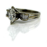 .85 Carat GIA Vintage Marquis Diamond Engagement Ring