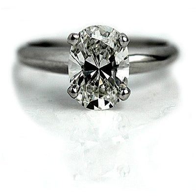 1.53 ct Oval Cut Diamond Solitaire Engagement Ring