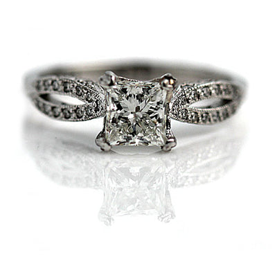 Vintage Tacori Princess Cut Diamond Engagement Ring
