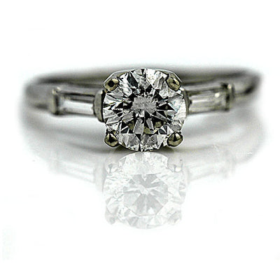 1.43 ct GIA Diamond Engagement Ring with Baguettes