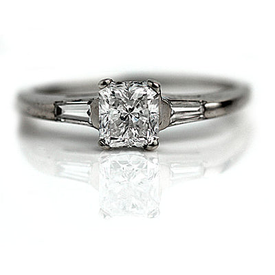 Vintage Radiant Cut Diamond Engagement Ring