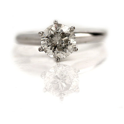 Vintage 1.54 ct GIA Very Light Gray Diamond Engagement Ring