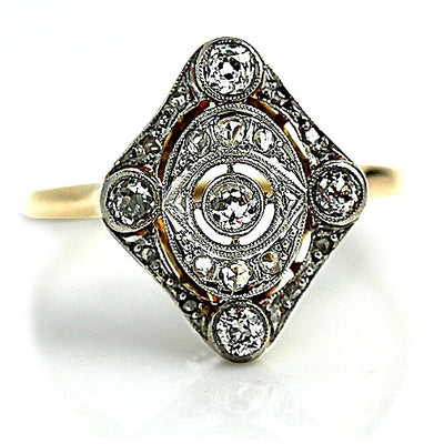 Edwardian Open Faced Engagement Ring