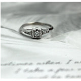 Art Deco Diamond Engagement Ring .15 Carat