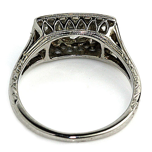 Unique Rectangular Shaped Engagement Ring