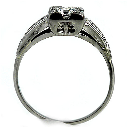 Art Deco Engagement Ring .50 Carat GIA F SI1