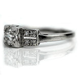 .50 Carat Antique European Cut Platinum Engagement Ring