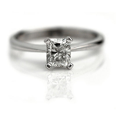 Vintage Radiant Cut Engagement Ring