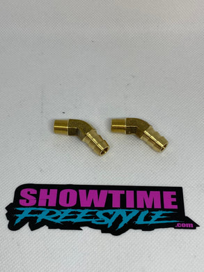 Factory B Pipe Brass 45 Degree Exhaust Fittings (Pair)