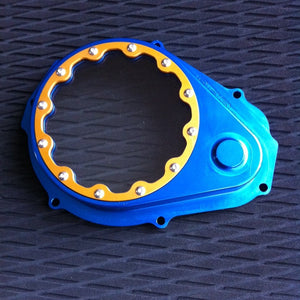 Billet Flywheel Cover With Clear Lexan Front