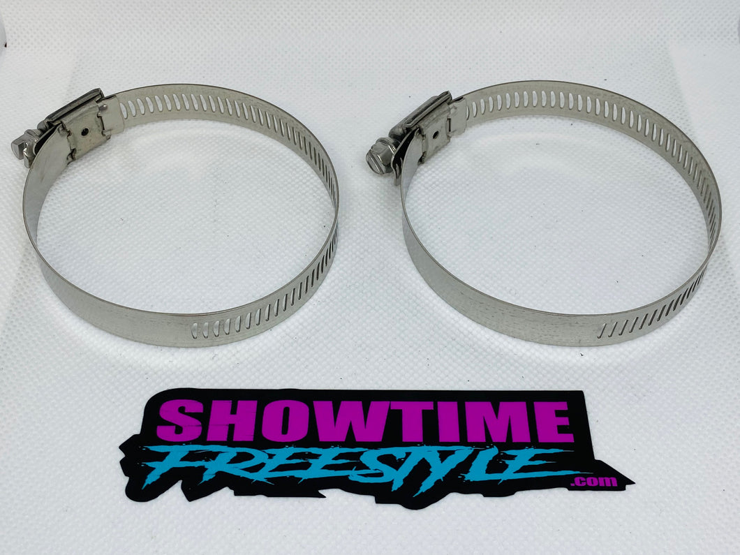 Stainless Steel Hose Clamps For Exhaust Hose (2 Clamps)