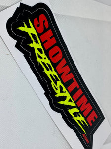 "Showtime Freestyle 4""x 10""Sticker"