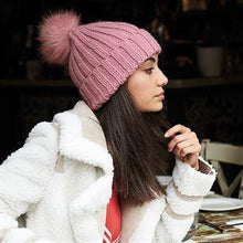 Load image into Gallery viewer, Beechfield Luxury Verbier Pom Pom Beanie Pink BC413-Custom Teamwear