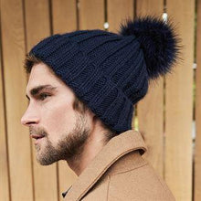 Load image into Gallery viewer, Beechfield Luxury Verbier Pom Pom Beanie Dark Olive BC413-Custom Teamwear