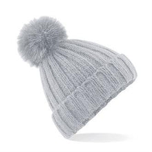 Load image into Gallery viewer, Adonis & Grace Luxury Verbier Pom Pom Beanie Grey - BrandClearance