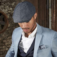 Load image into Gallery viewer, Adonis & Grace Summer Gatsby Flat Cap Blue Linnen - BrandClearance