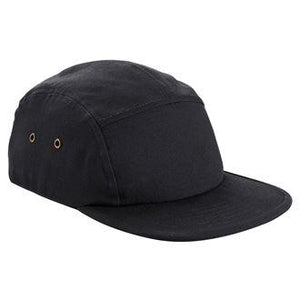 STREET Apparel Canvas Urban 5 Panel Street Cap-Cap-stREET Apparel-Black-BrandClearance