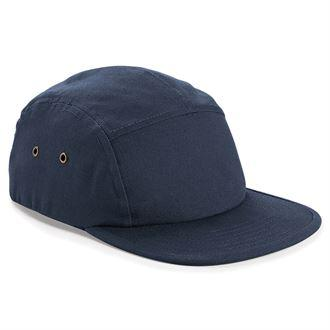 STREET Apparel Canvas Urban 5 Panel Street Cap-Cap-stREET Apparel-Navy-BrandClearance