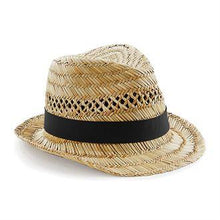 Load image into Gallery viewer, Beechfield Summer Festival Straw Trilby Hat BC730-Custom Teamwear