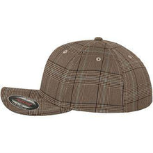 Load image into Gallery viewer, Flexfit Glen Check Fashion Cap YP041 Brown Khaki Fashion-Custom Teamwear