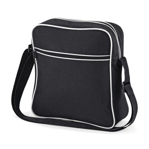 BagBase Retro Flight Shoulder Bag Carry On BG016 Black-Custom Teamwear