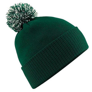 Beechfield Snowstar Beanie Winter Hat BC450 Bottle Green-Custom Teamwear