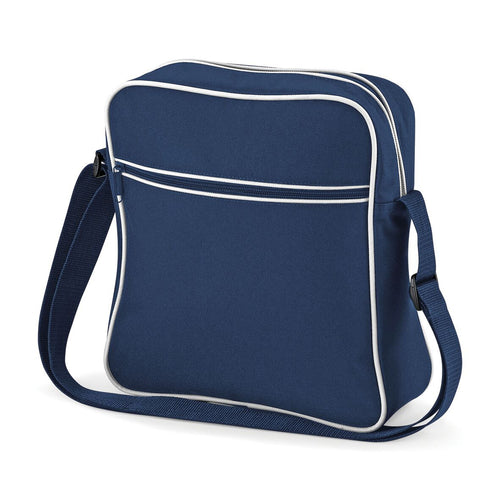 BagBase Retro Flight Shoulder Bag Carry On BG016 Navy-Custom Teamwear