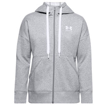 Load image into Gallery viewer, Under Armour Womens Rival Long Zip Hoody UA009 Grey-Custom Teamwear