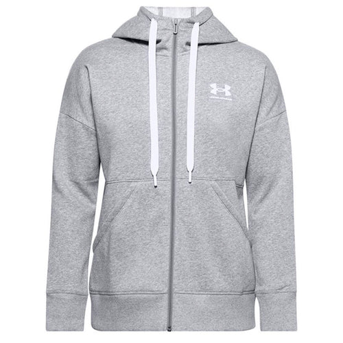 Under Armour Womens Rival Long Zip Hoody UA009 Grey-Custom Teamwear