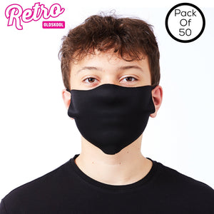 Retro OldsKool Lightweight Face Cover (Pack Of 50) Navy