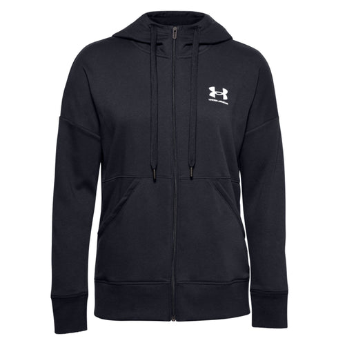 Under Armour Womens Rival Long Zip Hoody UA009 Black-Custom Teamwear