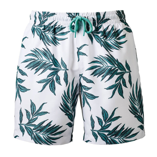 Wombat Swim Shorts Mens Fashion WB900 White Green