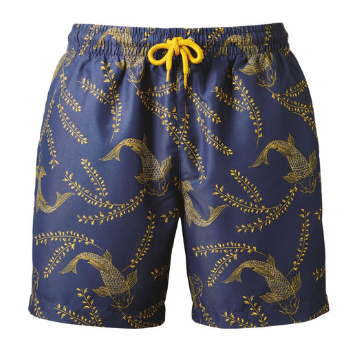 Wombat Swim Shorts Mens Fashion WB900 Navy Mustard-Custom Teamwear