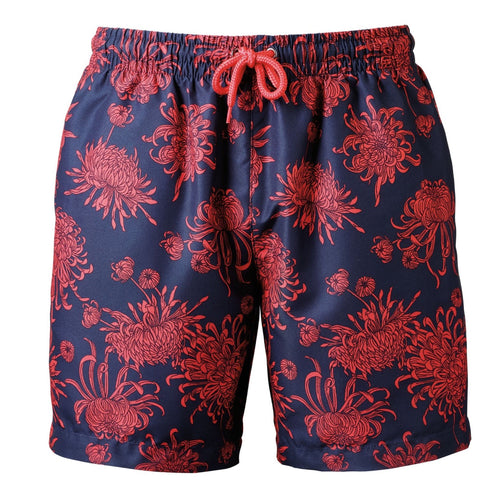 Wombat Swim Shorts Mens Fashion WB900 Navy Coral-Custom Teamwear