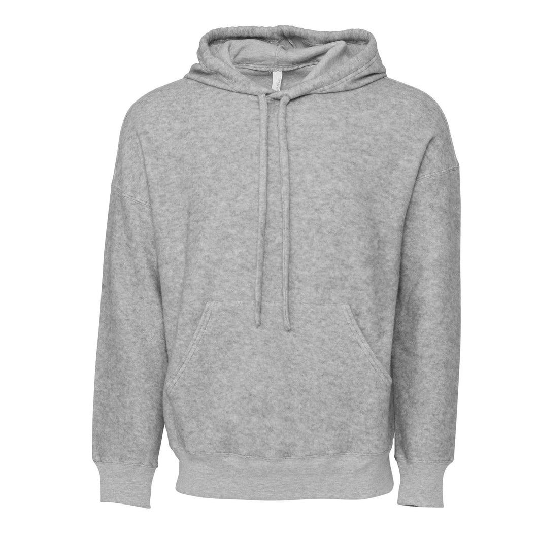 Bella & Canvas Unisex Sueded Fleece Pullover Hoody BE130 Grey-Custom Teamwear