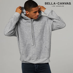 Bella & Canvas Unisex Sueded Fleece Pullover Hoody BE130 Grey