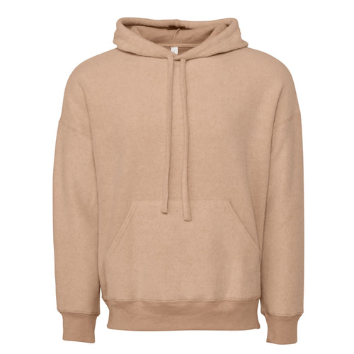 Bella & Canvas Unisex Sueded Fleece Pullover Hoody BE130 Oatmeal-Custom Teamwear