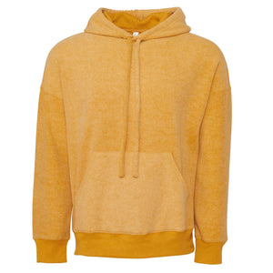 Bella & Canvas Unisex Sueded Fleece Pullover Hoody BE130 Mustard